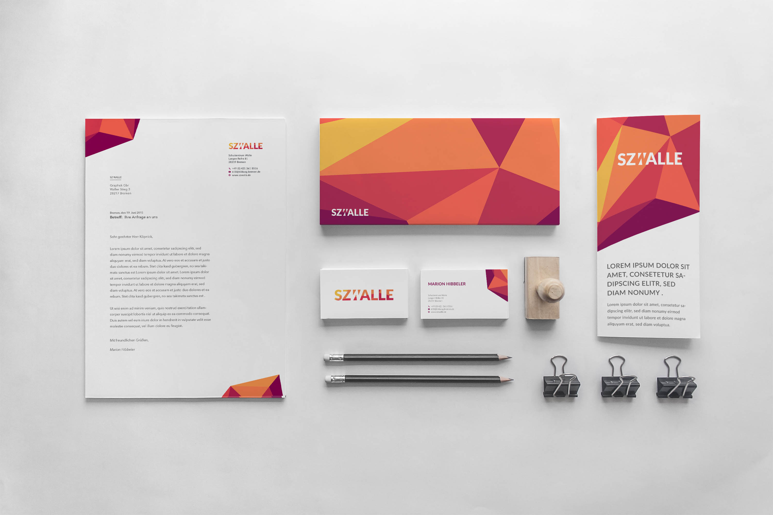 Corporate Design – Schulzentrum Walle